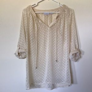 Cream Blouse by Liz Claiborne
